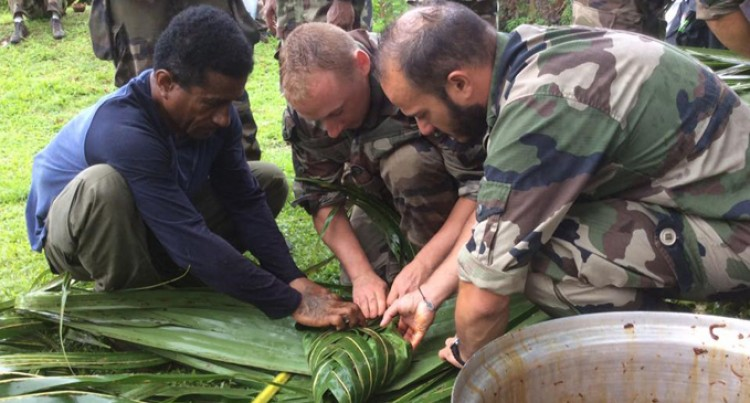 French Soldiers Experience Fijian Village Hospitality