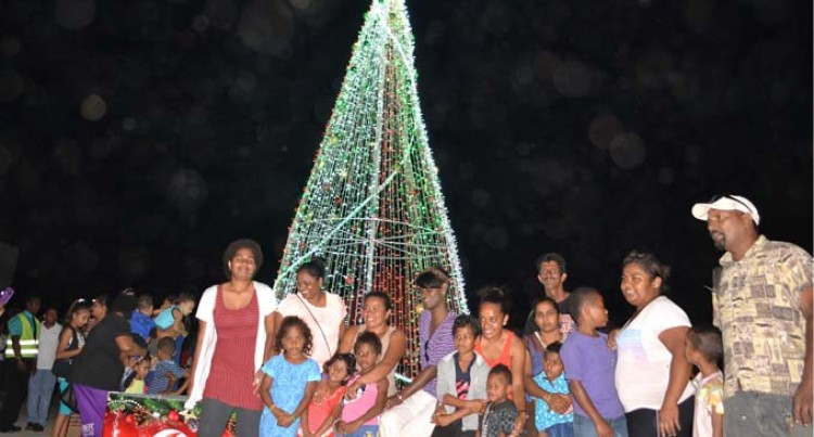 Christmas Lights Up In  Labasa