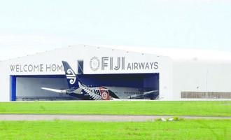 Troubled Air NZ Dreamliner In Fiji Airways Hangar
