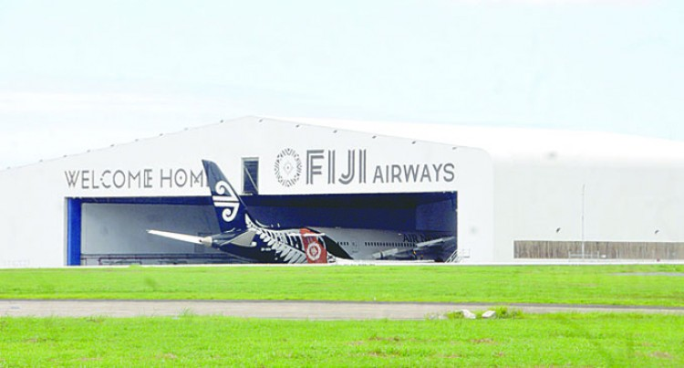 Troubled Air NZ Dreamliner In Fiji Airways Hangar