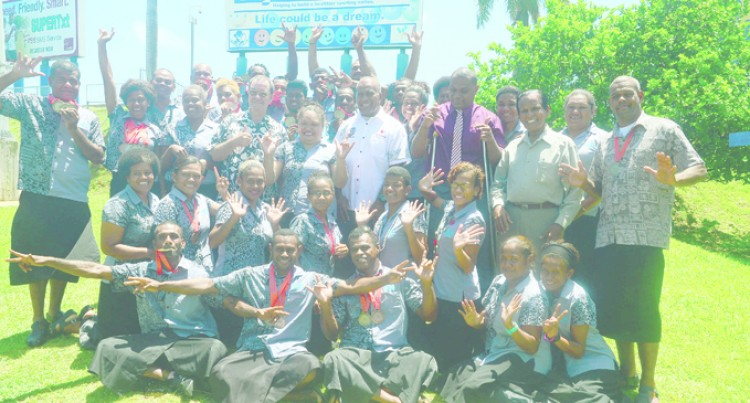 Tuitubou Hosts Deaf Team