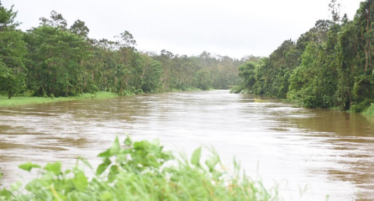 Rewa River Reaches Warning Level, Slowly Rising