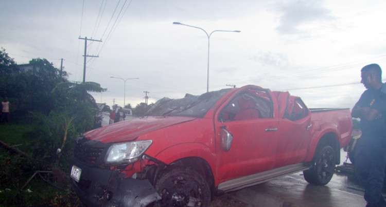 Vehicle Flips, Thought Driver Dead: Witness