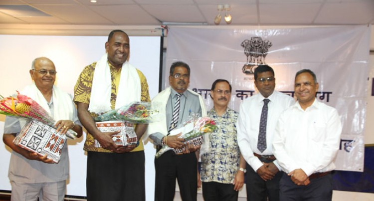 Teacher Bainivalu Awarded For Hindi Work