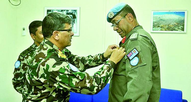 Colonel Kalouniwai Gets Medal