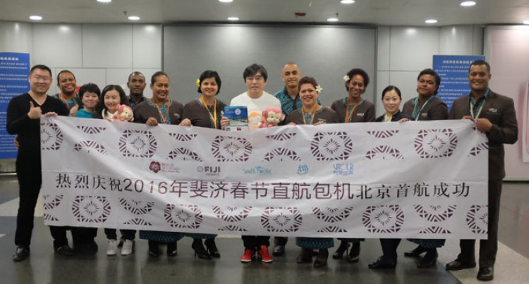 Chinese From First Beijing-Nadi Charter Arrive