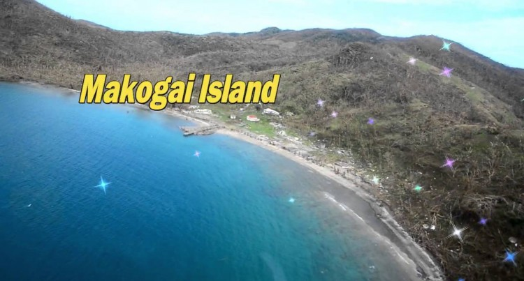 Aerial Shots Of Makogai Island After TC Winston