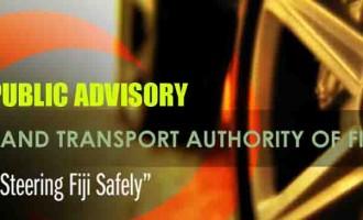 URGENT PUBLIC ADVISORY FROM THE LAND TRANSPORT AUTHORITY