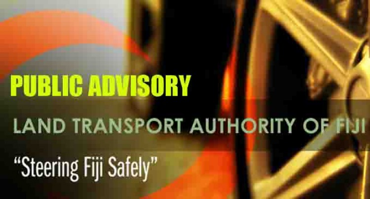 URGENT PUBLIC ADVISORY FROM THE LAND TRANSPORT AUTHORITY