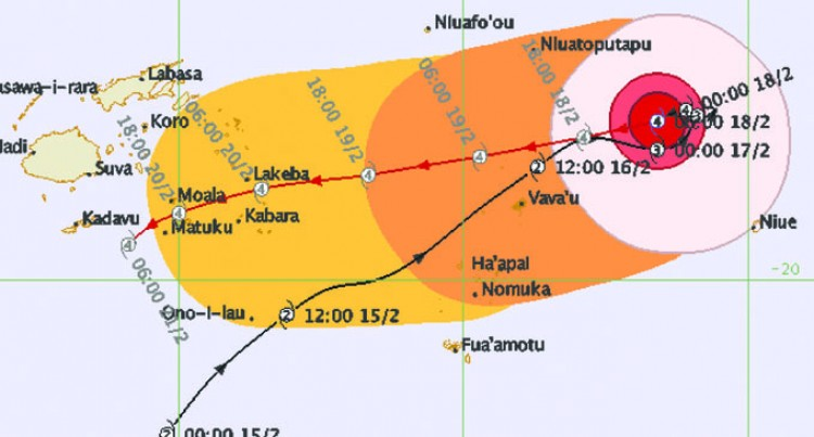 Stay Alert! Tropical Cyclone Winston May Hit Lau As Early As Tomorrow