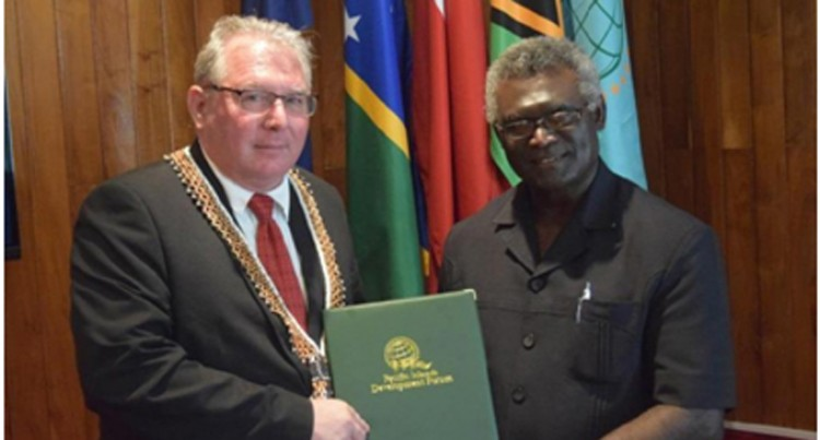 Solomons PM Makes Courtesy Call to PIDF