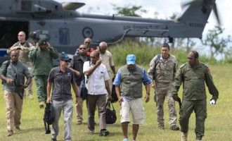 Prime Minister Visits Vanuabalavu On Board NZDF NH90 Helicopters