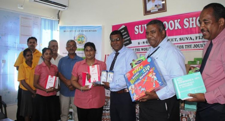 Suva Book Shop Donates Stationery To Education Ministry