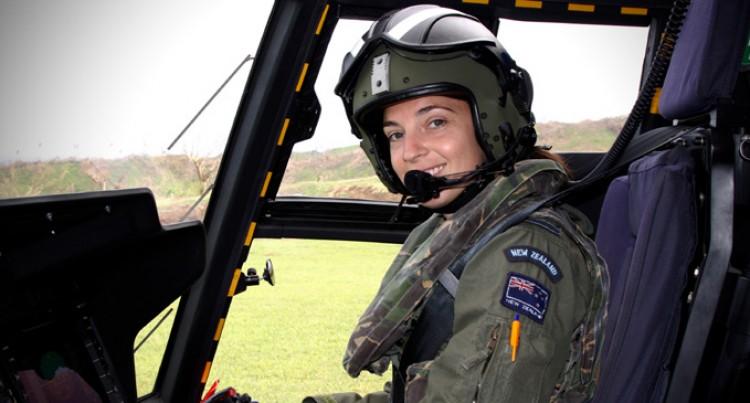 NZ's First Female  NH90 Pilot  Enjoys Mercy Help Flights Here