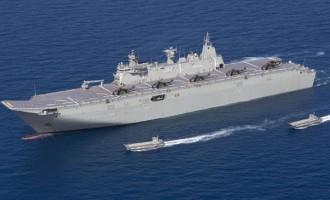 HMAS Canberra For Koro