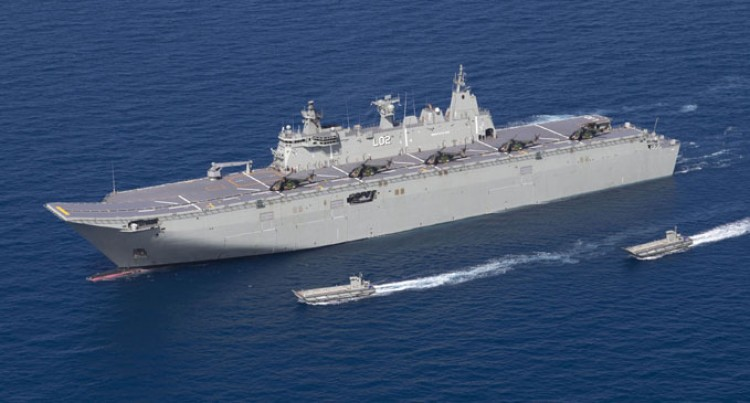 HMAS Canberra For Koro