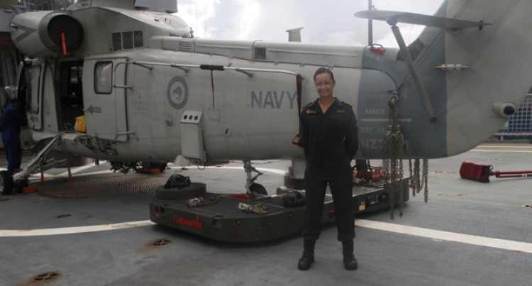 Kiwi Navy Officer Hails Cheerful Cyclone Victims