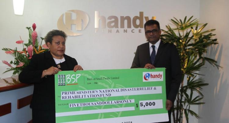 Handy Finance Pledge $5000 to PM's Relief Fund