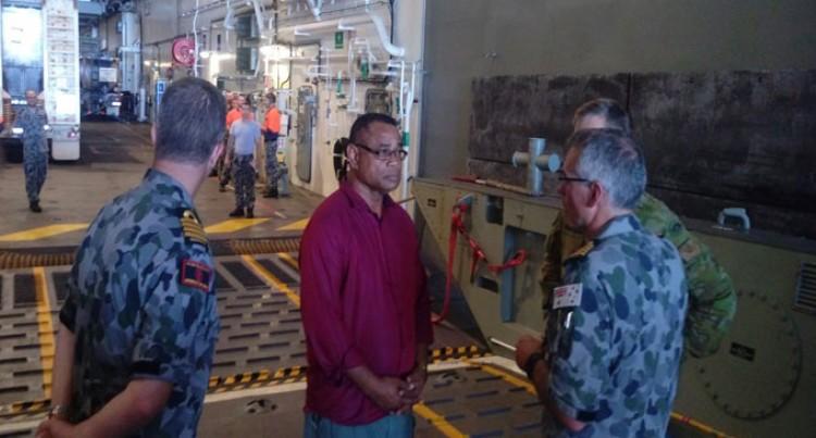 Natuva Visits HMAS Canberra