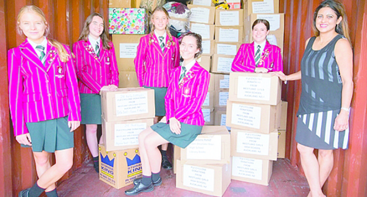 Schools Dispatch Goods To Fiji