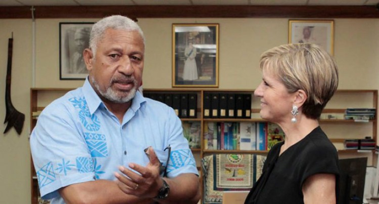 Julie Bishop Inspired By Fijians' Resilience