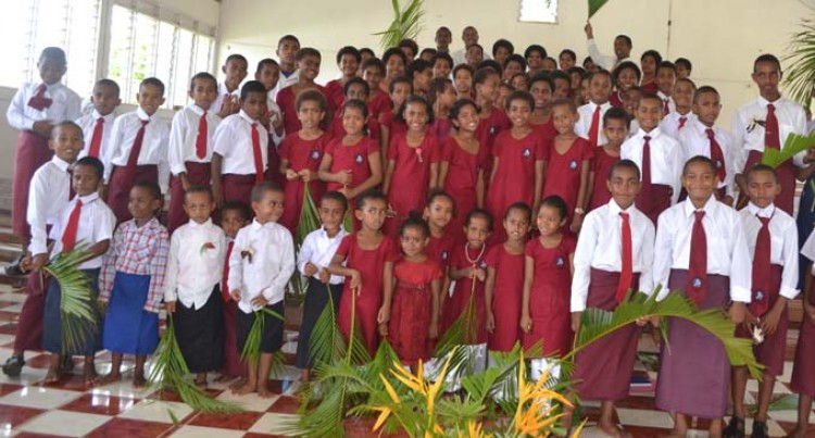 Children Get New Uniforms For Palm Sunday