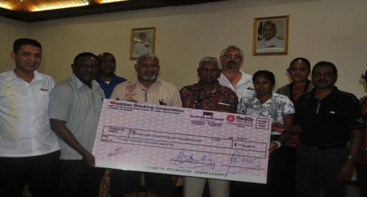 Lautoka Business Houses Give $275,000 To PM's Relief Fund