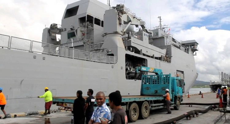 HMNZS Canterbury Arrives In Fiji 03 03 16