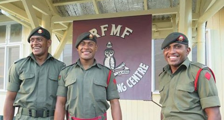 NZ Fijian Army Officers Salute Camaraderie
