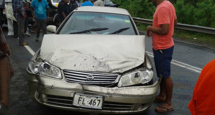 Five In Hospital After Three-Car Crash