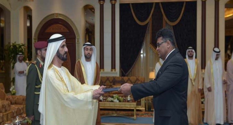 Ambassador Kamlesh Prakash Presents Credentials To The  Vice President Of The UAE