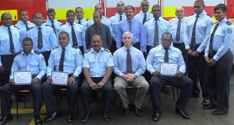 Ambassador Cefkin Thanks Firefighters