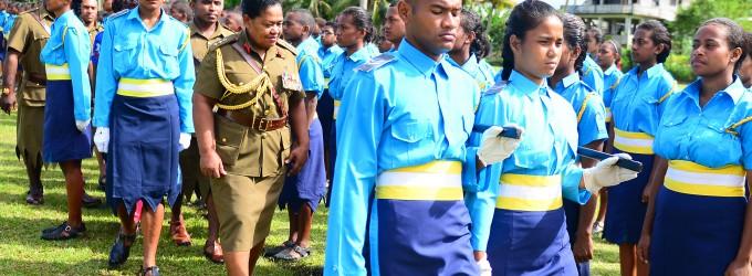Colonel Seruiratu  Commends Cadets