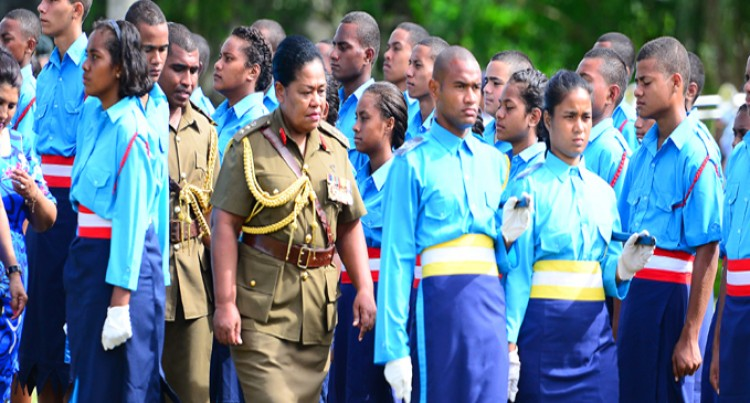 Colonel Seruiratu  Commends Cadets
