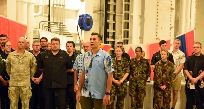 Kiwi Forces Depart On Canterbury