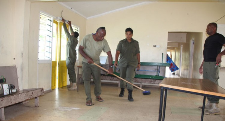 RFMF Personnel Help With Clean Up, Renovations In Tailevu