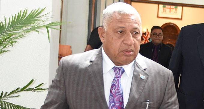 Bainimarama Won't Attend MSG Meeting