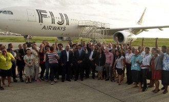 Fiji Airways Staff Happy