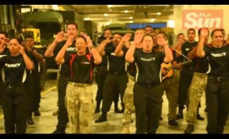 HMNZS Canterbury Farewell Cocktail -Traditional Dance  17 04 16
