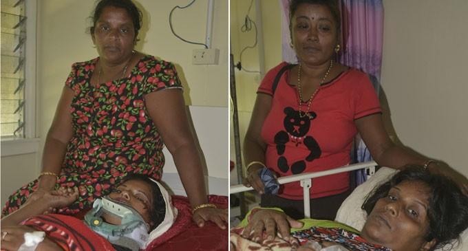 Crash Lands Two Women In Hospital