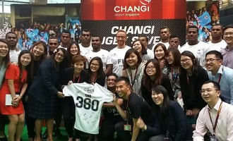 Changi Airport Welcomes The Fijian 7s Team