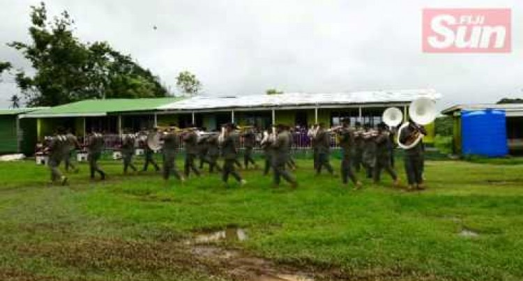 RFMF Band March from Korovou to Korovou Primary School 14 04 16
