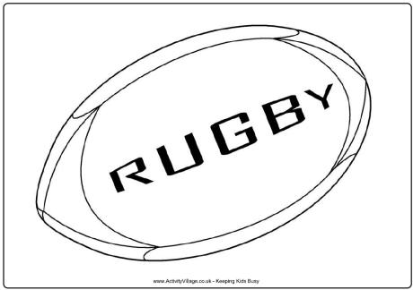 Fiji Sun Rugby League Rugby League Colouring Pages