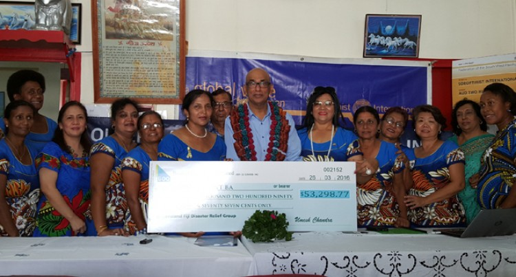 SI Ba receives Cheque Of Over $53K To Help In Cyclone Relief