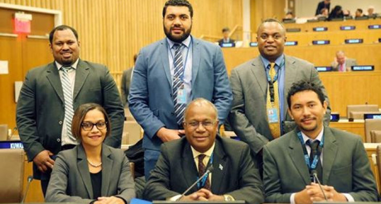 Fijian Delegation Attends New York Meeting