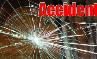 Car Smashes Post In Waimalika