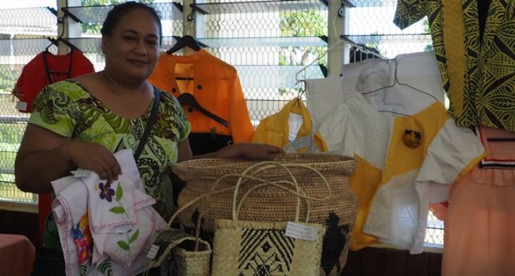 Jacinta Displays Her Handicraft