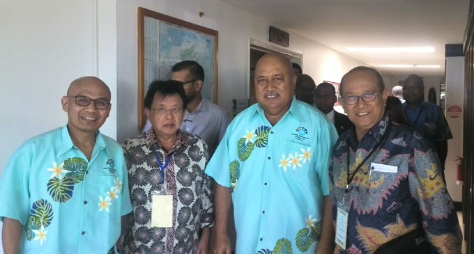 A senior delegation of Indonesian officials and delegates of the United Liberation Movement for West Papua met yesterday in a move instigated by the Melanesian Spearhead Group.