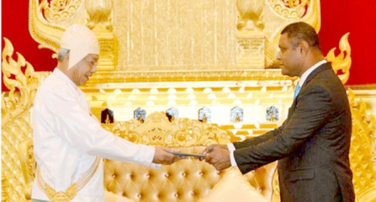 Ambassador Kau Presents Credentials In Myanmar