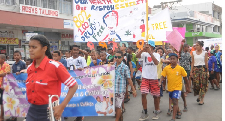 St Thomas Primary March Against Drugs